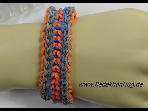 Loom Bands mit Rainbow Loom Anleitung Deutsch R – Veronika Hug