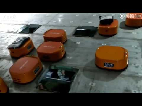 Robots sorting system helps Chinese company finish at least 200 000 packages a day in the