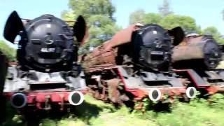 Steam Locomotive Graveyard In Germany   Dampflok Museum Hermeskeil 2016
