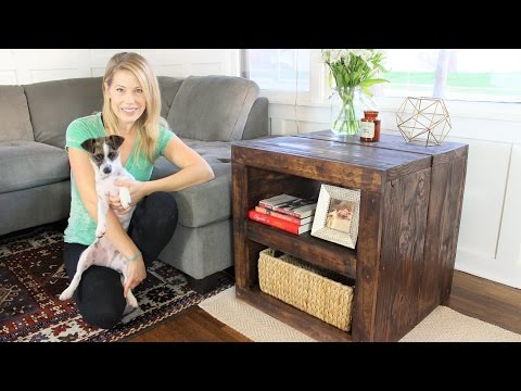 The Rustic Side Table - Easy DIY Project