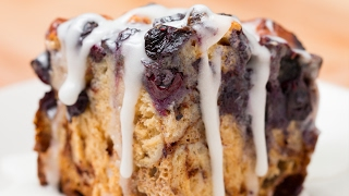 Blueberry Cinnamon Roll Bake by Tasty