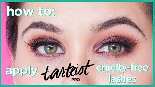 how to apply new tarteist PRO cruelty-free lashes