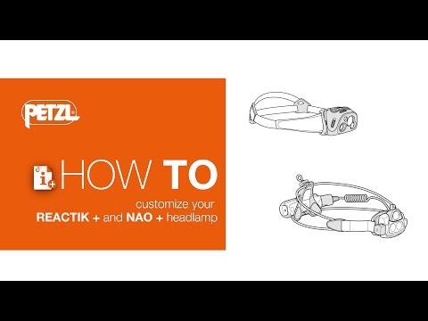 How to customize your REACTIK+ and NAO+ headlamp