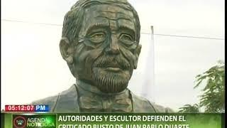 Autoridades y escultores defienden el criticado busto de Juan Pablo Duarte