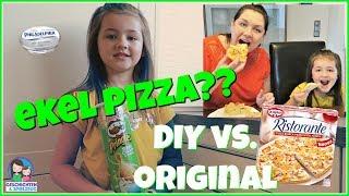 DIY ekel Pizza mit Pringles?? vs. Chips Pizza von Dr. Oetker 🍕 Geschichten und Spielzeug