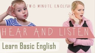 Hear vs Listen, Common English Errors