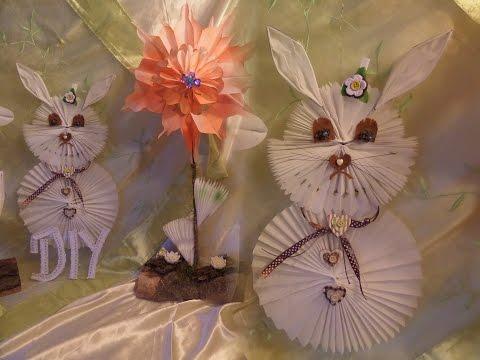 DIY Deko Hase aus Butterbrotpapier selber BASTELN