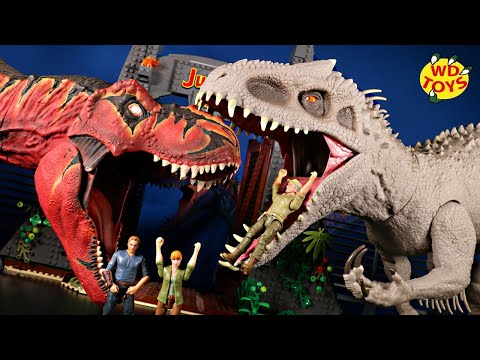 Jurassic World Unboxing Super Colossal Indominus Rex World's First Mattel Dinosaur Toys #withme