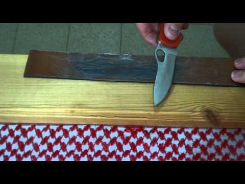 10$ на заточку ножа: Правка на ремне (часть 3)