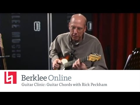 Rick Peckham - Guitar Chords - Berkleemusic Open House