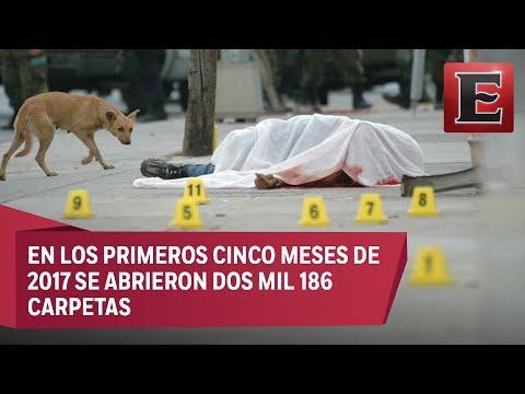 Se dispara en mayo el número de asesinatos dolosos en México