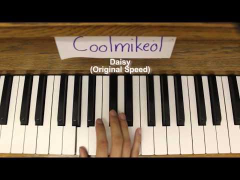 Basic Piano Melody: Kyoukai no Kanata ED 1 - Daisy (видео)