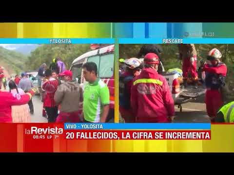 Video - Βολιβία: Τουλάχιστον 25 νεκροί μετά από πτώση λεωφορείου σε χαράδρα