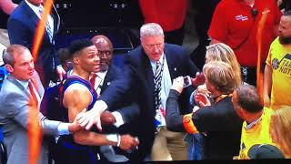 Russell Westbrook hits a fan after losing to the Utah Jazz!