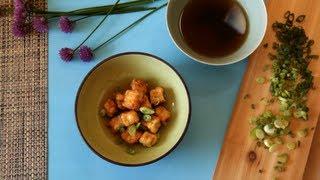 Tofu frit pour l'apéritif