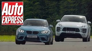 BMW M2 vs Porsche Macan Turbo: odd couple fight it out on track by Auto Express