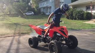 6. 12Yr old Yamaha Raptor 700  Playing Around