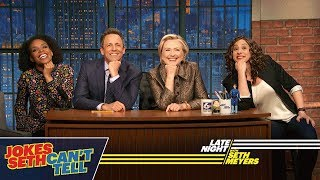 Video Jokes Seth Can't Tell with Hillary Rodham Clinton MP3, 3GP, MP4, WEBM, AVI, FLV Juli 2018