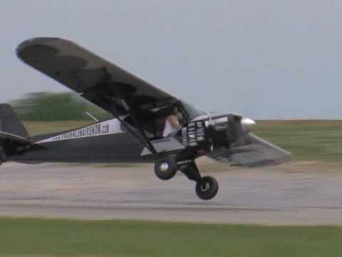 stunt - This is a video of a stunt pilot who, in real life, is a Delta Airlines pilot. His act at air shows is to pretend that he is a drunken spectator, who rushes ...