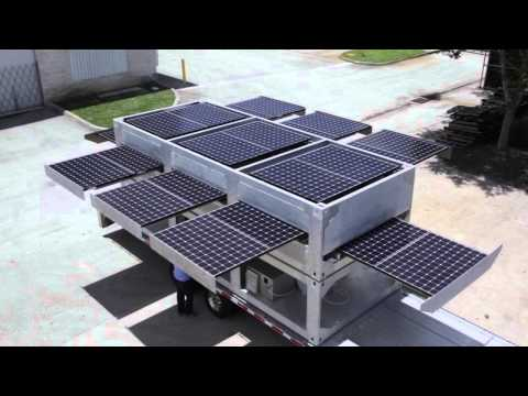 Ecosphere's Patented Ecos PowerCube® Technology – The World's Largest Mobile Solar Powered Generator