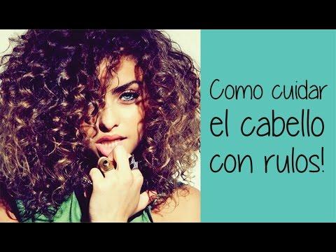 Como cuidar cabello con rulos ♥ Como me peino y que uso!