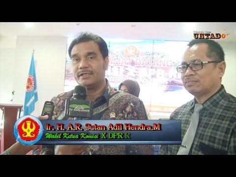 Dok Humas Untad, DPR RI Komisi X, Kagumi Pemandangan Universitas Tadulako
