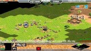 VaneLove vs Sơ Luyến Random 30/7/2015   Trận 4, game đế chế, clip aoe, chim sẻ đi nắng, aoe 2015