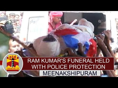 RamKumars-Funeral-Held-with-Police-Protection-at-Meenakshipuram-Thanthi-TV