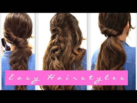 4 EASY Lazy HAIRSTYLES for FALL | Everyday Hairstyle for Medium + LONG HAIR