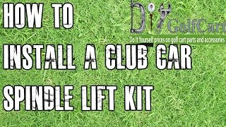 How to install a spindle lift kit on a 1994-03.5 gas or 1984-03.5 electric Club Car DS golf cart. This tutorial will show you how to install our lift kit on a Club Car ...