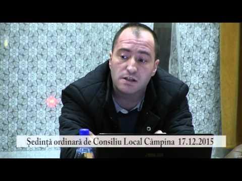 Sedinta Consiliul Local Campina – 17 decembrie 2015 – partea a II-a