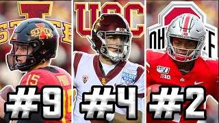 The 10 BEST QB's for the 2020 College Football Season by Harris Highlights