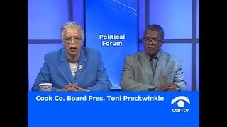 Cook County Board President Toni Preckwinkle discusses the latest developments associated with the county's sweetened beverage tax, as well as safety within the Forest Preserves of Cook County. This program was recorded on August 9, 2017 at Chicago Access Network Television (CAN TV).