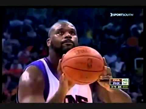 Shaquille O'Neal's funny free-throws - Suns vs. Bobcats
