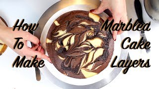 Marble Cake Recipe Tutorial | CHELSWEETS