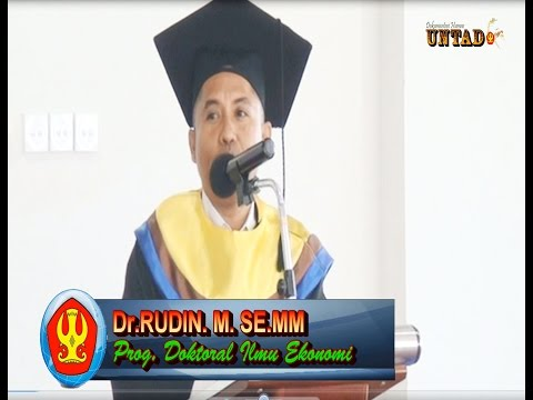 Dok Humas Untad, Ujian Promosi Dr Rudin, SE MM Di Universitas Tadulako Palu Disk 1