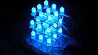 3X3X3 RGB LED Cube PIC