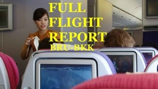 Thai Airways B777-300ER Brussels - Bangkok FLIGHT REPORT