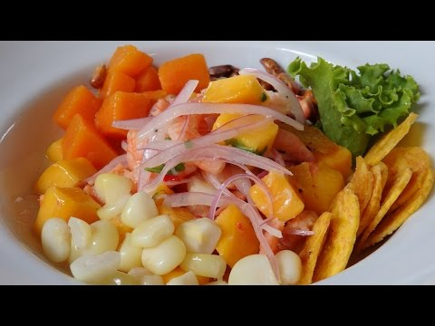 Eating Ceviche in Lima, Peru
