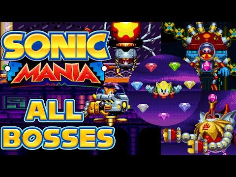 Sonic Mania - All Bosses as Super Sonic/Tails/Knuckles (видео)