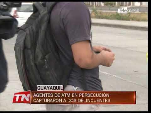 Agentes de ATM en persecución capturaron a dos delincuentes