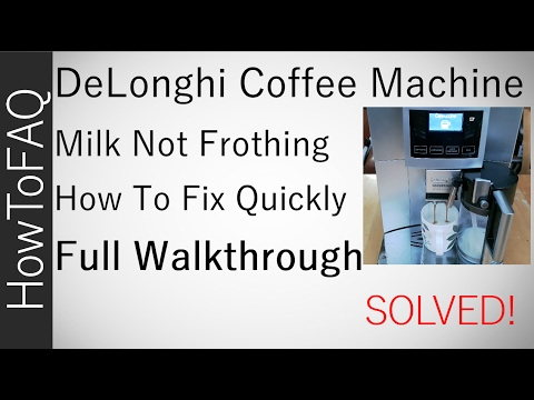 DeLonghi ESAM 5600 Coffee Machine Milk Frother Froth Foam How to Repair Not Frothing Failure Solved