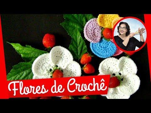 CROCHE FLOR MODELO 047 - PARTE 1