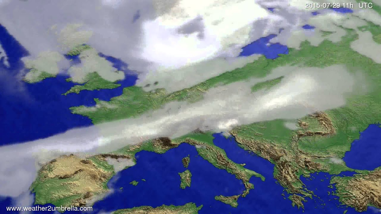 Cloud forecast Europe 2015-07-26