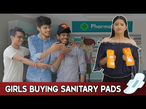 GIRLS BUYING SANITARY PADS || Sibbu Giri