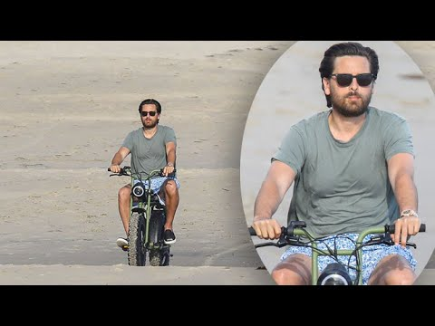 Scott Disick Ignores Quarantine Rules And Bikes On Malibu Beach With A Pal