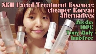 SKII Facial Treatment Essence Dupes Review: Missha, IOPE, Tony Moly, Innisfree