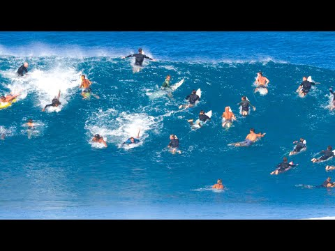 SURFING PIPELINE ON THE MOST CROWDED DAY EVER!