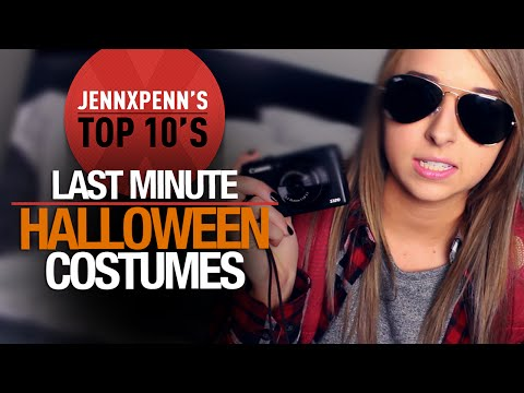 Top - This week, Jennxpenn shares her top 10 last minute Halloween costume ideas. What are you going to be for Halloween? Let us know in the comments below. MORE JENNXPENN ...