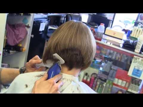 Andis clipper haircut Bobbie's graduated bob haircut HD video